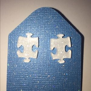 Jewelry - Autism Awareness Puzzle Stud Earrings